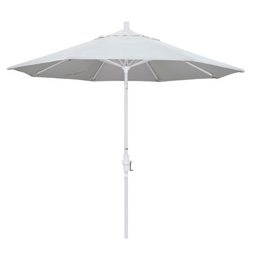 9 Foot Umbrella Aluminum Market Collar Tilt - Matted White/Pacifica/Natural