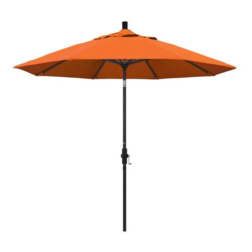 California Umbrella 9 Foot Umbrella Aluminum Market Collar Tilt - Matted Black/Sunbrella/Tuscan