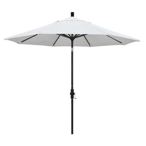 9 Foot Umbrella Aluminum Market Collar Tilt - Matted Black/Olefin/White