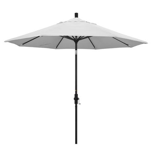 9 Foot Umbrella Aluminum Market Collar Tilt - Matted Black/Pacifica/Natural