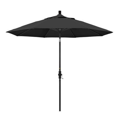 9 Foot Umbrella Aluminum Market Collar Tilt - Matted Black/Pacifica/Black