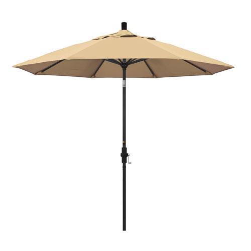 California Umbrella 9 Foot Umbrella Aluminum Market Collar Tilt - Matted Black/Pacifica/Beige