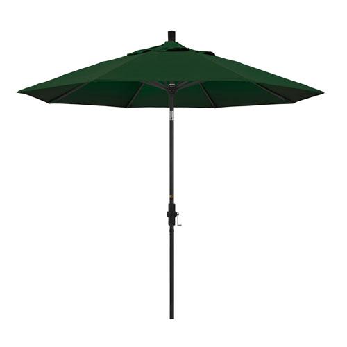 California Umbrella 9 Foot Umbrella Aluminum Market Collar Tilt - Matted Black/Pacifica/Hunter Green