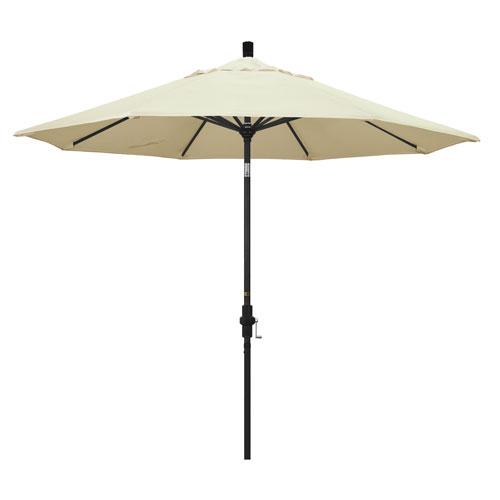 9 Foot Umbrella Aluminum Market Collar Tilt - Matted Black/Pacifica/Canvas