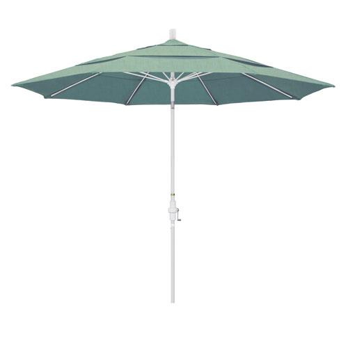11 Foot Fiberglass Market Umbrella Collar Tilt Double Vent Matted White/Sunbrella/Spa