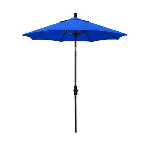 7.5 Foot Umbrella Fiberglass Market Collar Tilt - Bronze/Sunbrella/Pacific Blue