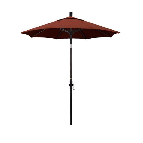 7.5 Foot Umbrella Fiberglass Market Collar Tilt - Bronze/Sunbrella/Henna