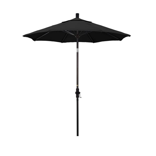 California Umbrella 7.5 Foot Umbrella Fiberglass Market Collar Tilt - Bronze/Sunbrella/Black
