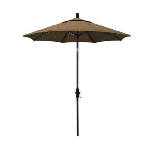 California Umbrella 7.5 Foot Umbrella Fiberglass Market Collar Tilt - Bronze/Sunbrella/Cocoa