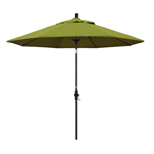 California Umbrella 9 Foot Umbrella Fiberglass Market Collar Tilt Bronze/Pacifica/Ginkgo