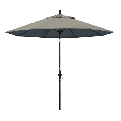 9 Foot Fiberglass Market Umbrella Collar Tilt Matte Black/Sunbrella/Spectrum Dove