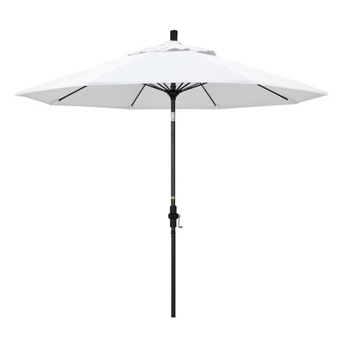 California Umbrella 9 Foot Umbrella Fiberglass Market Collar Tilt - Matted Black/Pacifica/Natural