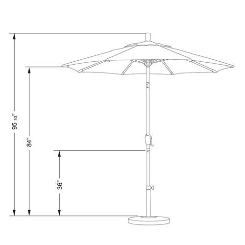 e4151544157b California Umbrella 7.5 Foot Umbrella Fiberglass Market Push Tilt  Bronze/Pacifica/Tuscan
