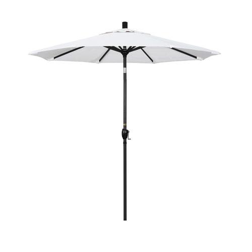 7.5 Foot Umbrella Fiberglass Market Push Tilt - Matted Black/Olefin/White