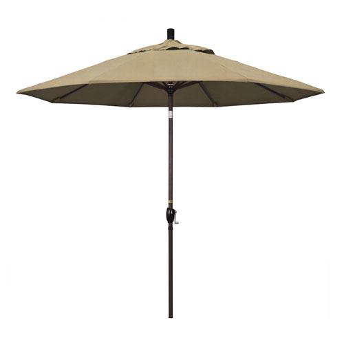 California Umbrella 9 Foot Umbrella Aluminum Market Push Tilt - Bronze/Sunbrella/Heather Beige