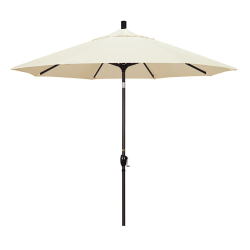 California Umbrella 9 Foot Umbrella Aluminum Market Push Tilt - Bronze/Pacifica/Canvas
