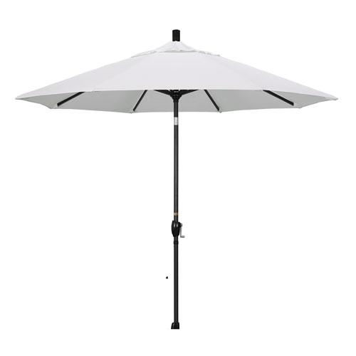 California Umbrella 9 Foot Umbrella Aluminum Market Push Tilt - Matte Black/Pacifica/Natural