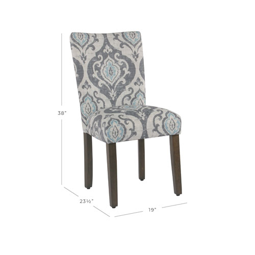 Clic Parsons Dining Chair Suri Blue Set Of 2