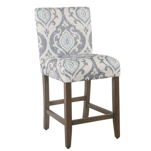 Meadow Lane 24 Inch Classic Parsons Counter Stool Suri Blue K685824