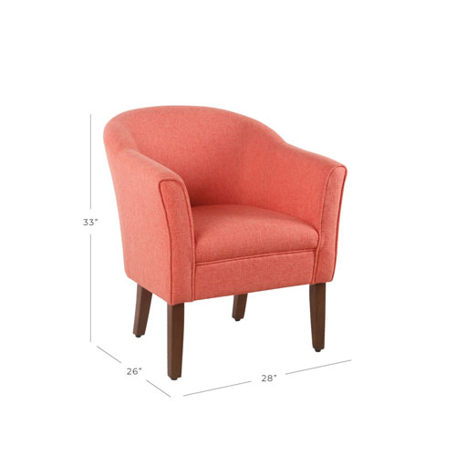 Outstanding Modern Barrel Accent Chair Textured Orange Bralicious Painted Fabric Chair Ideas Braliciousco