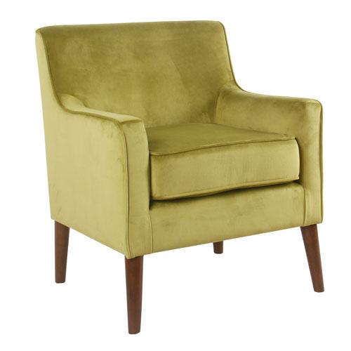 Mid-Century Velvet Accent Chair - Wasabi Green