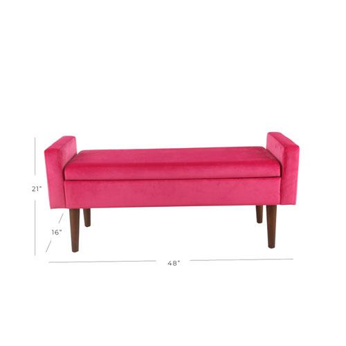 Awesome Velvet Storage Bench Pink Machost Co Dining Chair Design Ideas Machostcouk
