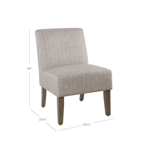 Armless Accent Chair - Textured Gray