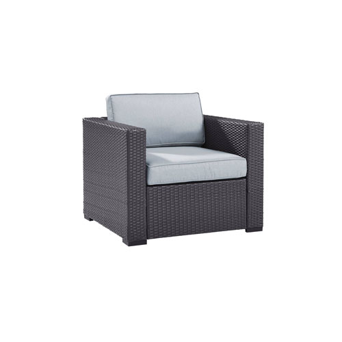 Crosley Furniture Biscayne Armchair With Mist Cushions