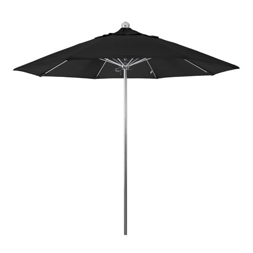 California Umbrella 9 Foot Umbrella Stainless Steel Single Pole Fiber Glass Ribs Market Anodized/Pacifica/Black
