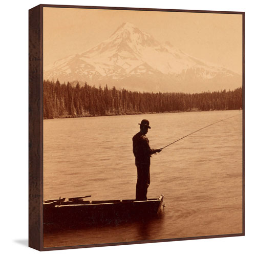 Marmont Hill Mt. Hood Floater 12 x 12 In. Framed Painting Print on Canvas