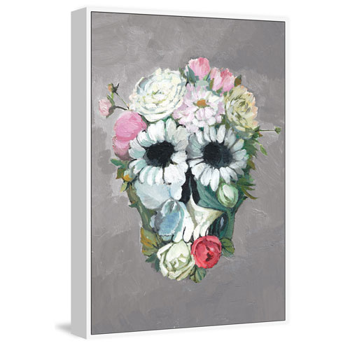Marmont Hill Enjoy Flower Floater 24 x 16 In. Framed Painting Print on Canvas