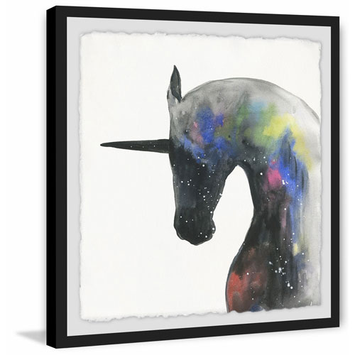 Marmont Hill Mystical Unicorn 12 x 12 In. Framed Painting Print