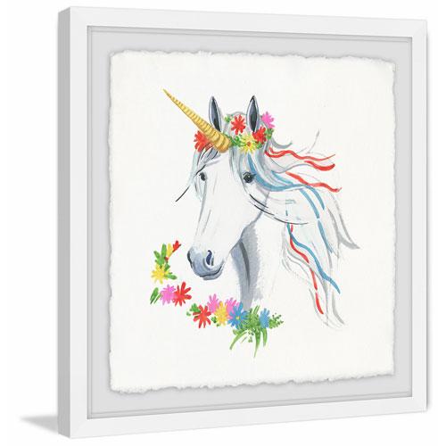 Marmont Hill Rainbow Unicorn II 32 x 32 In. Framed Painting Print