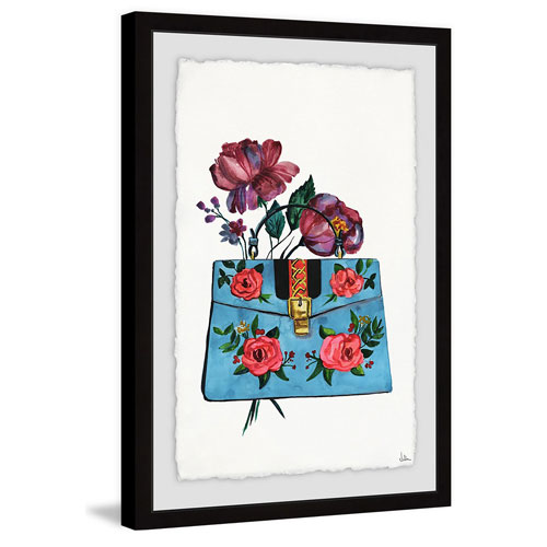 Marmont Hill Blue Purse 30 x 20 In. Framed Painting Print