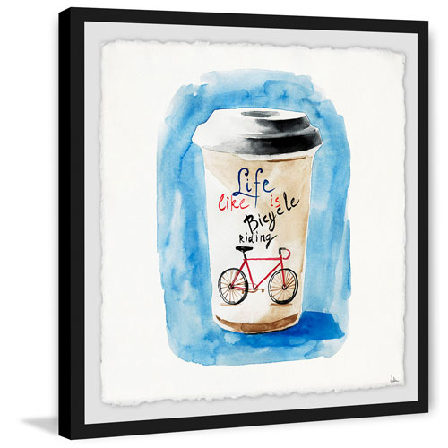 Marmont Hill Life Is Like Riding a Bicycle 32 x 32 In. Framed Painting Print
