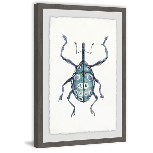 Marmont Hill Blue Beetle 18 x 12 In. Framed Painting Print