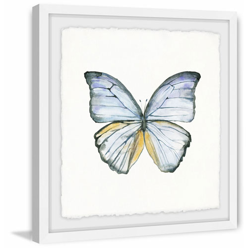 Marmont Hill Blue Lace Wings 40 x 40 In. Framed Painting Print