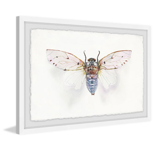 Marmont Hill White Wingspan 8 x 12 In. Framed Painting Print