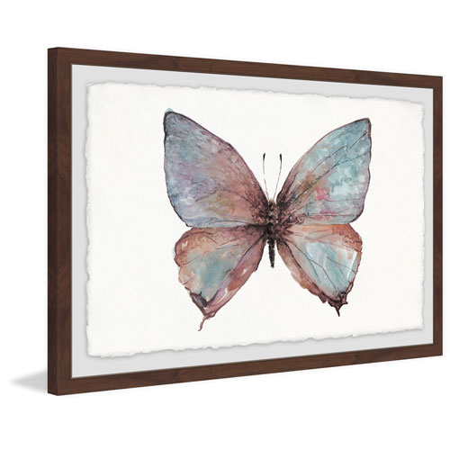 Marmont Hill Grand Pastel Wings 12 x 18 In. Framed Painting Print