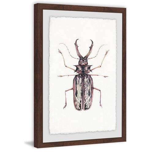 Marmont Hill Artsy Insect 36 x 24 In. Framed Painting Print