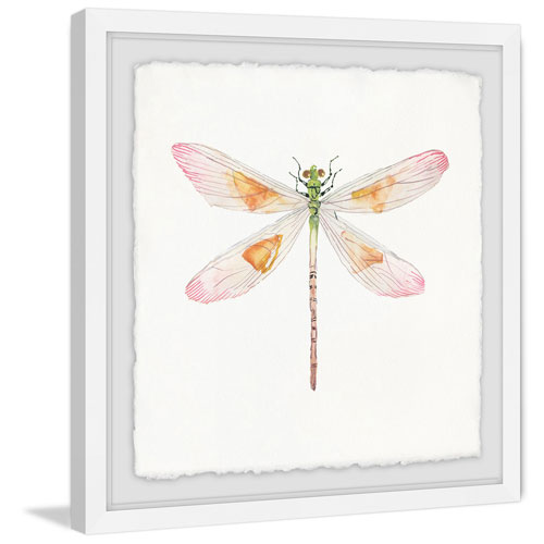 Marmont Hill Translucent Dragonfly 18 x 18 In. Framed Painting Print