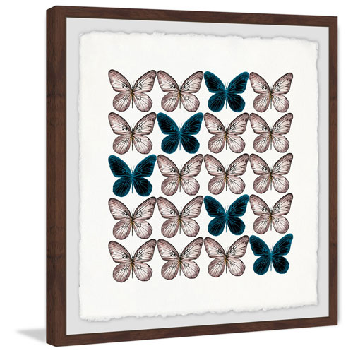 Marmont Hill Butterfly Pattern 40 x 40 In. Framed Painting Print