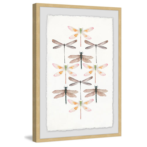 Marmont Hill Dragonfly Rows 36 x 24 In. Framed Painting Print