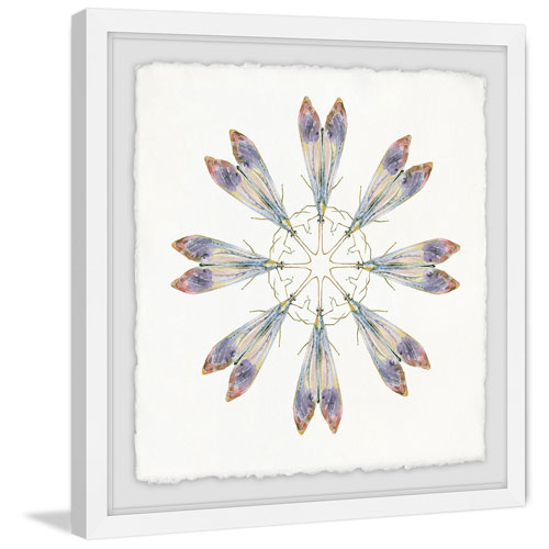Purple Wing Dance 48 x 48 In. Framed Painting Print