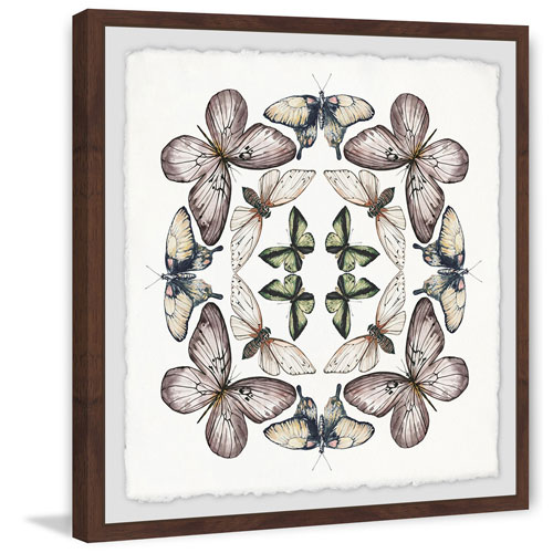 Marmont Hill Concentric Butterflies 12 x 12 In. Framed Painting Print