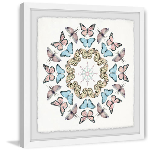 Marmont Hill Butterfly Circles 48 x 48 In. Framed Painting Print