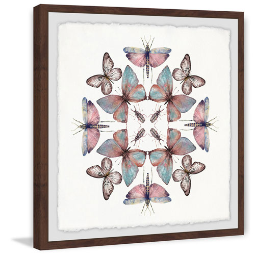 Marmont Hill Concentric Bugs 18 x 18 In. Framed Painting Print