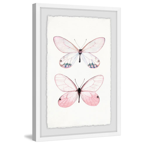 Marmont Hill Pink Pair 36 x 24 In. Framed Painting Print