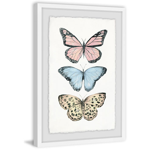 Marmont Hill Butterfly Trio 24 x 16 In. Framed Painting Print