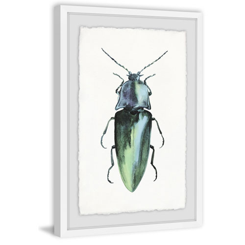 Marmont Hill Pointy Green Bug 60 x 40 In. Framed Painting Print